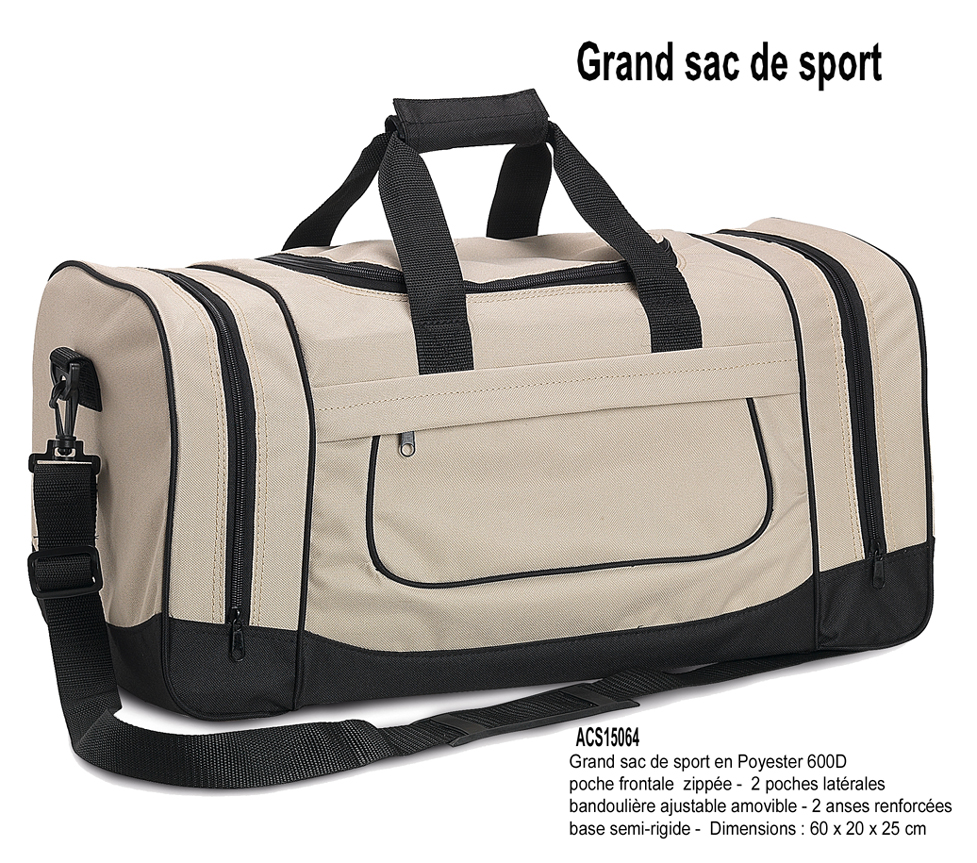 d284f4b27a810 article indisponible · très grand sac de sport en 600D 2 poches latérales -  ACS15064 x 25 : 11.86 € - x 100 : 11.28 € H.T ...