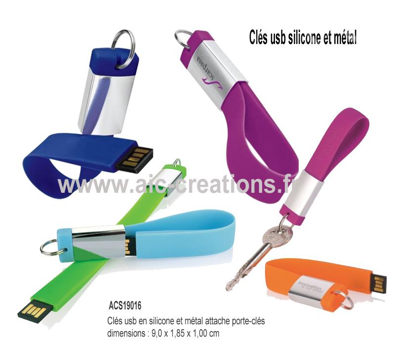 Cles Usb Publicitaires Métal Fabrication De Clés Usb AIC Creations - Porte clé usb