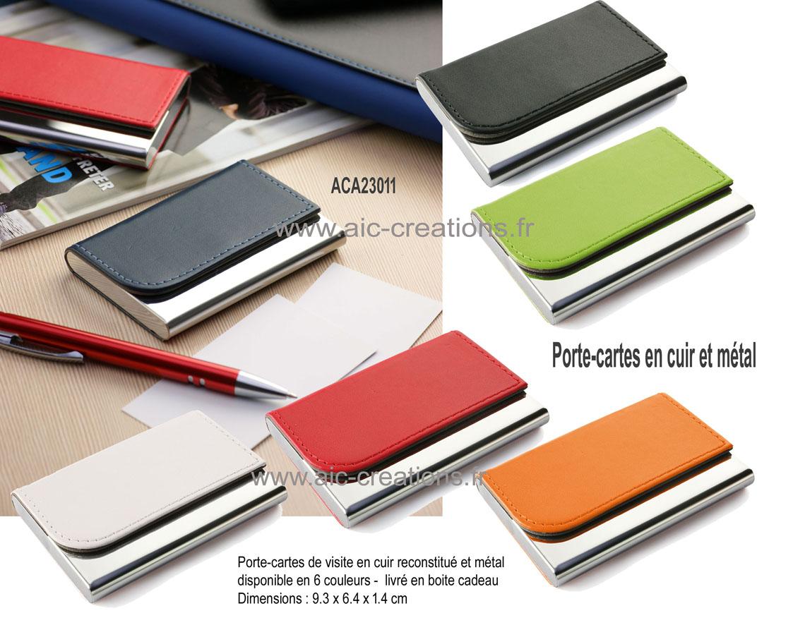 Porte Cartes De Visite En Cuir Et Mtal Qualit Boite Cadeau ACA23011 X 100 360 EUR