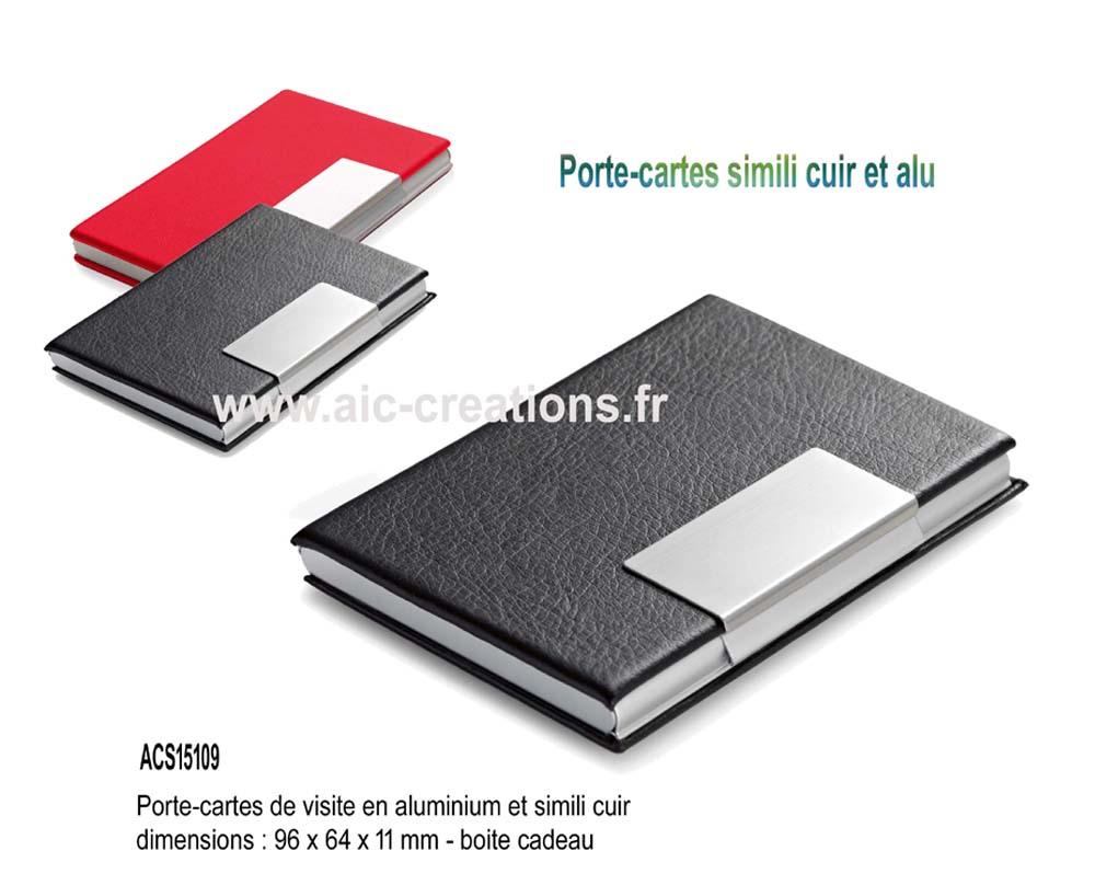 Porte cartes publicitaire coffret cadeau porte cartes m tal luxe ou cuir par aic cr ations - Porte carte de visite cuir ...