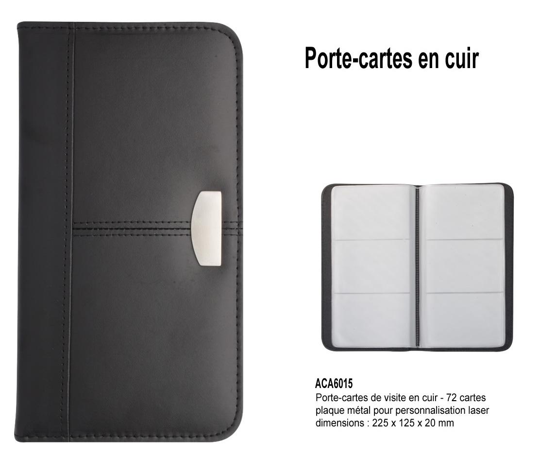 Porte Cartes Simili Cuir Et Metal Boite Cadeau