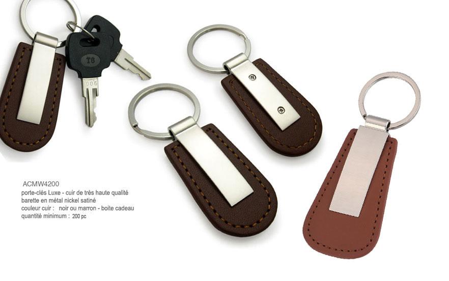 Porteclés Publicitaire Objets Publicitaires AIC Créations - Porte clef cuir