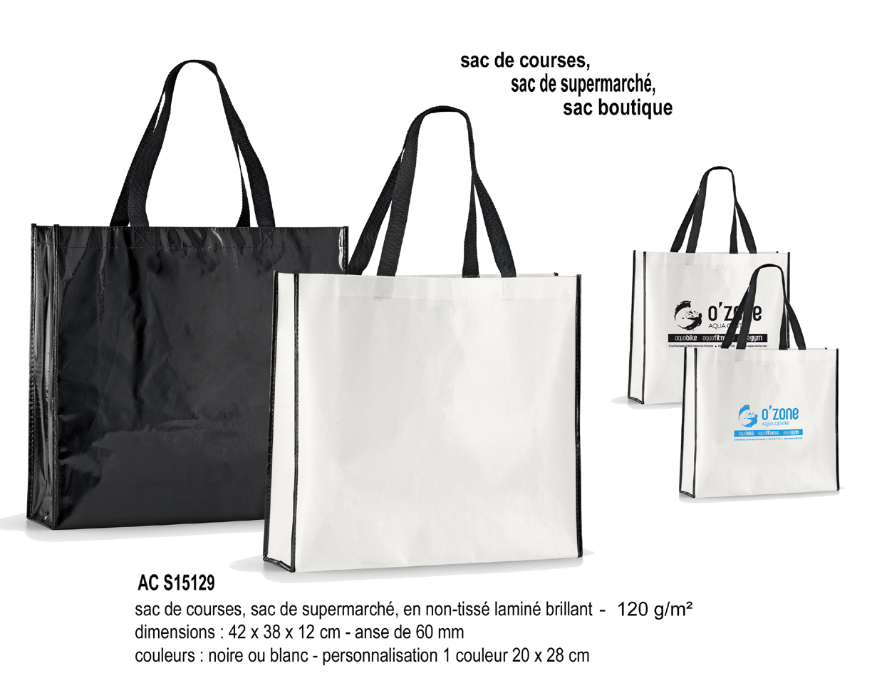 sac shopping publicitaire sac shopping intiss sacs publicitaires aic cr ations. Black Bedroom Furniture Sets. Home Design Ideas