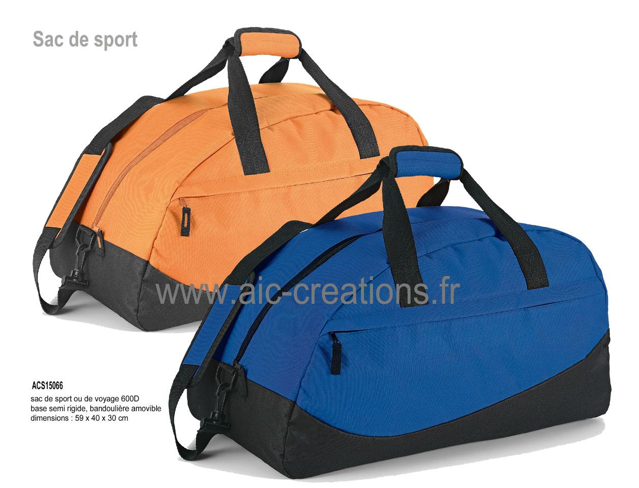 fe96e4080cbc9 ... sac de sport 600D base semi-rigide bandouliere amovible - ACS15066 x 60  : 10.16 € - x 100 9.95 € H.T